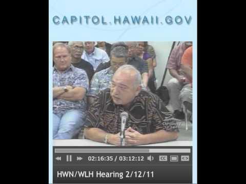 Gov. John Waihee testimony opposing SB609
