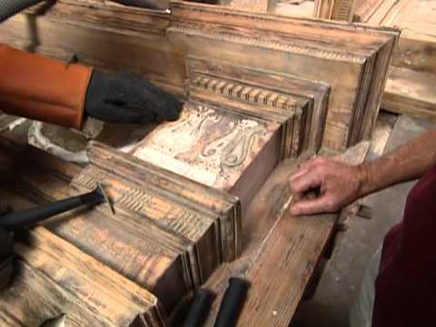 How to Restore an Old Mantelpiece - Renovating 300-Year-Old Governor's Mansion -  Bob Vila eps.2009