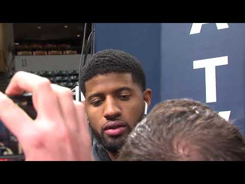 Paul George speaks at Bankers Life Fieldhouse for first time since OKC trade