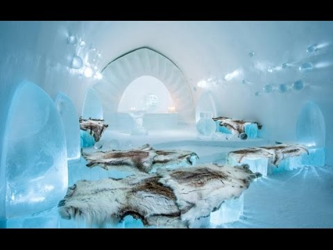 the amazing ice hotel in sweden jukkasj rvi youtube. Black Bedroom Furniture Sets. Home Design Ideas