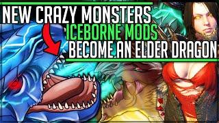 TWO NEW MONSTERS - Become An Elder Dragon - God VS Pro/Noob - Monster Hunter World Iceborne PC Mods!