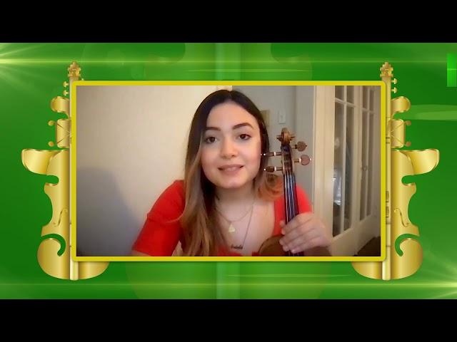 #ConcursodeViolin | Gabriela Valentina Lara, finalista del III Concurso Internacional de Violín