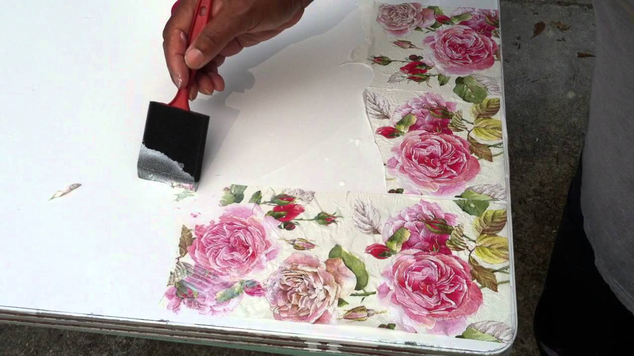 floral decoupage furniture. my decoupage table diy project floral furniture e