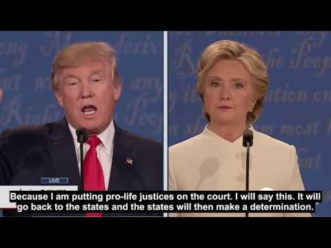 English sub The Third US Presidential Debate Trump vs Clinton
