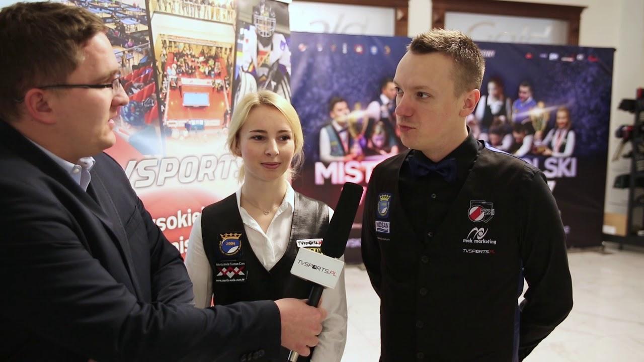 Mistrzostwa Polski w Bilard – Kielce 2017 – Czupryńska i Kapłan ze złotem 8 bil