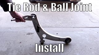 Mitsubishi EVO 8/9 Tierod & Ball Joint Install // Whiteline Roll Center Kit Install