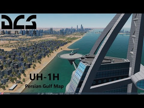 DCS World - UH-1H on the Persian Gulf Map