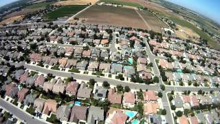 DJI 450, Flying around Modesto, CA