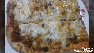 ПИЦЦА С МЯСОМ И ГРИБАМИ.#пицца#рецепт#тесто#выпечка#вкуснаяеда#