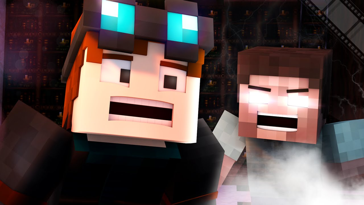 Minecraft  HEROBRINE IN THE LIBRARY!!  Animated Funny Moment