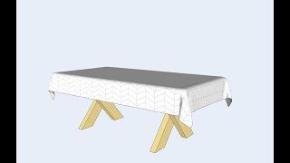 ClothWorks - Draping Picnic Table