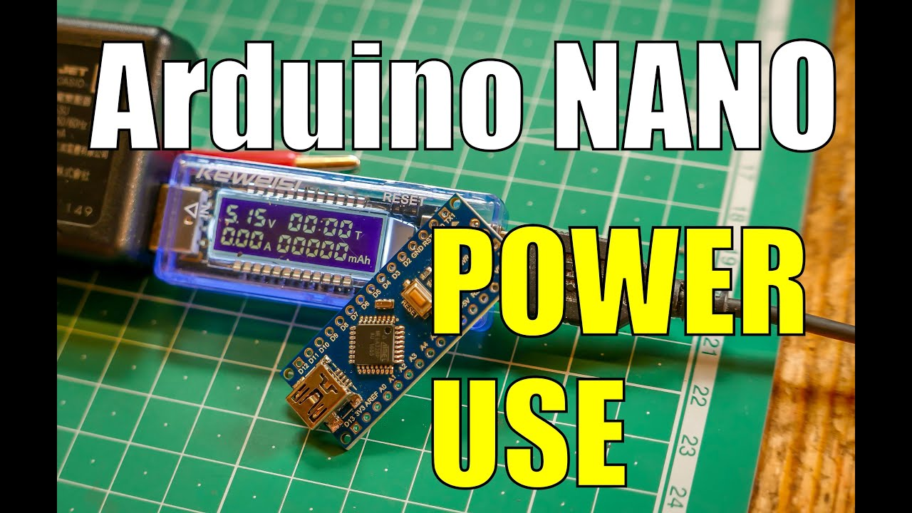 Arduino Nano Power Amp Current Consumption Youtube