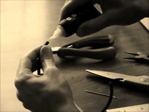 Hand-making of Leather and Silver Bracelet