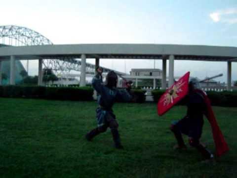 The SCA Does Not Tap Fight! Rattan Sword Breaks Brick!