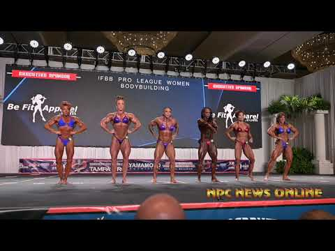 2020 IFBB Pro League Tampa Pro Women's Bodybuilding Prejudging