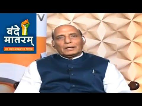 Vande Mataram India TV: Working towards a permanent solution in Kashmir, says Rajnath Singh