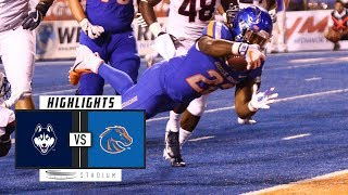 UConn vs #20 Boise State Football Highlights (2018) | Stadium