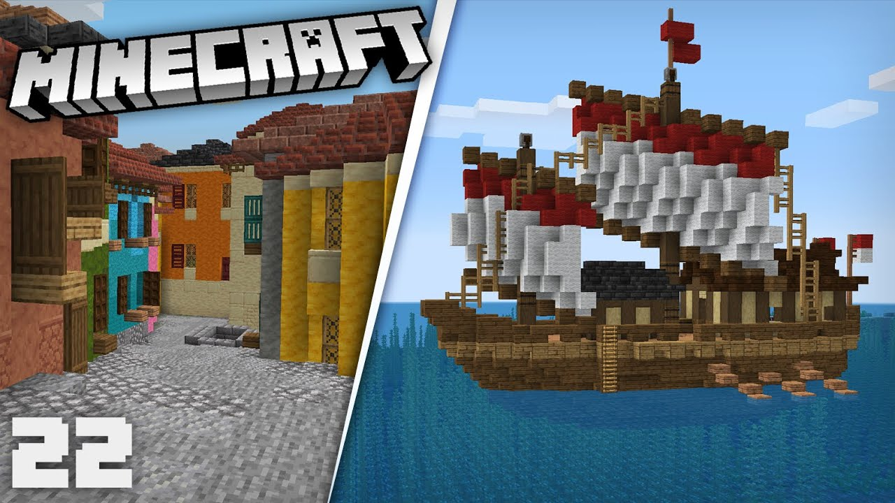 Expanding the Tuscan City & Building a New Ship| Minecraft 1.17 Survival