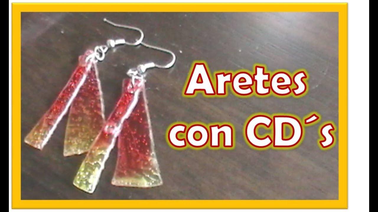 da6377ec450e Aretes con CD`s   Reutiliza - YouTube
