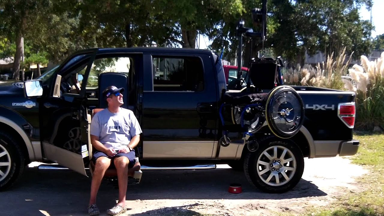 Wheelchair Lift For Truck Z High Chair Accessible Youtube