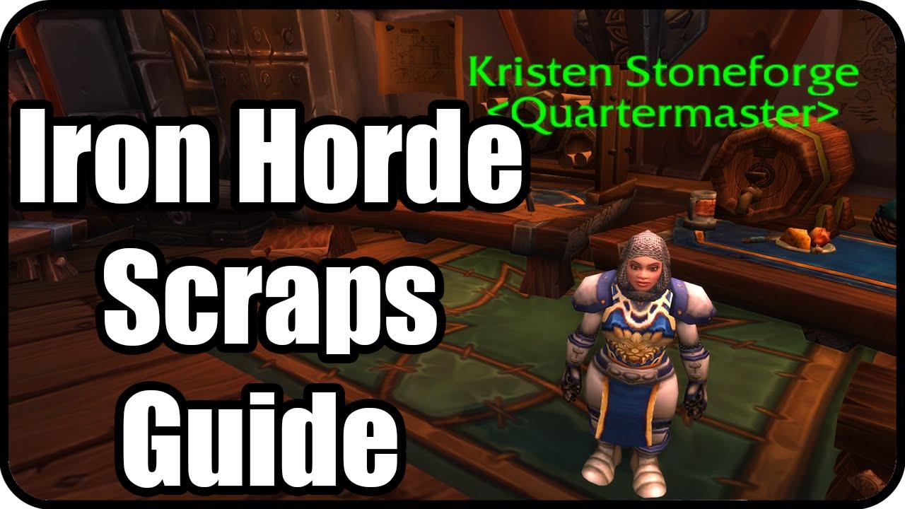 Wow Iron Horde Scraps Farming Guide Iron Docks Patch 6 2 Youtube