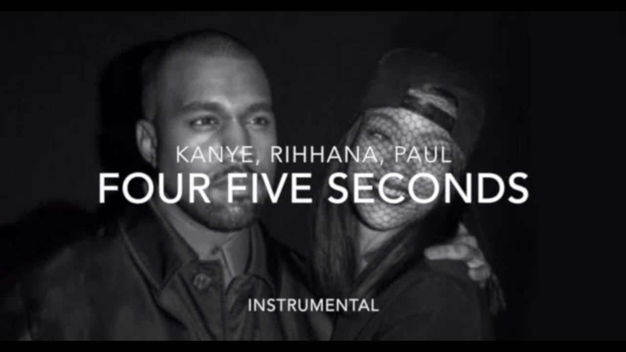 Rihanna - Four Five Seconds (Lyrics) ft  Kanye West & Paul McCartney  Acoustic Instrumental