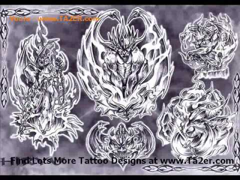 Dragon And Flower Tattoo Design