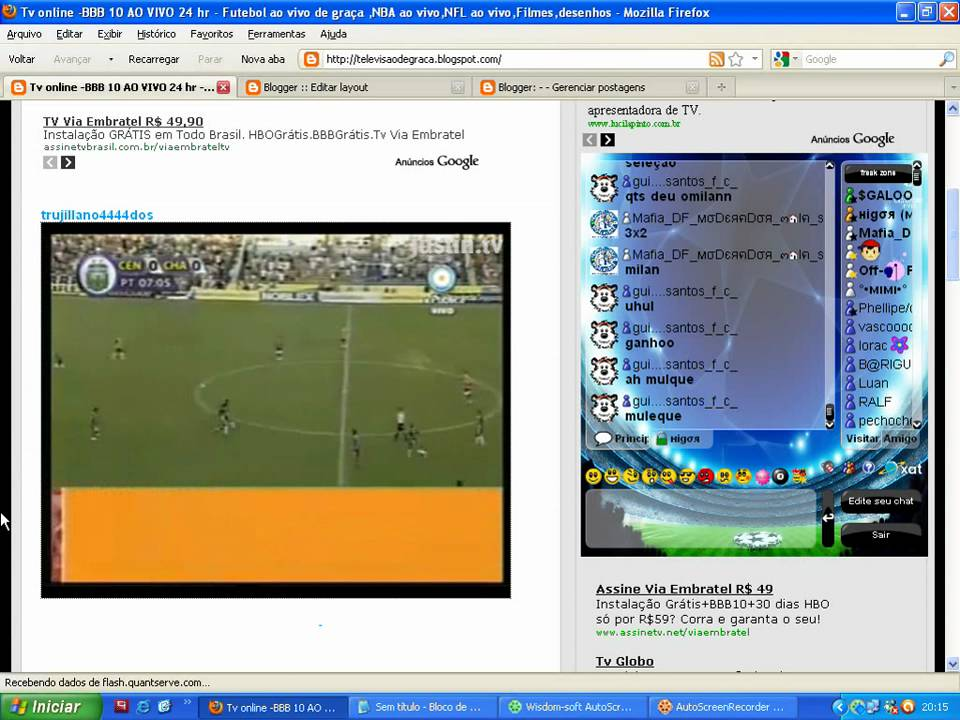Futebol on line ao vivo
