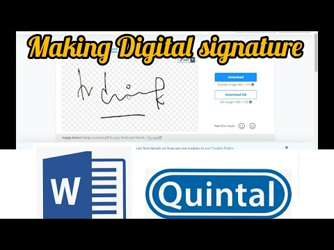Making Digital Signature   MS Word Document   Quintal   E-Reports Auto Signed