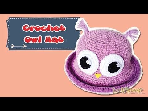 หมวกไหมพรม ฮูกตาโต (Crochet Owl Hat)