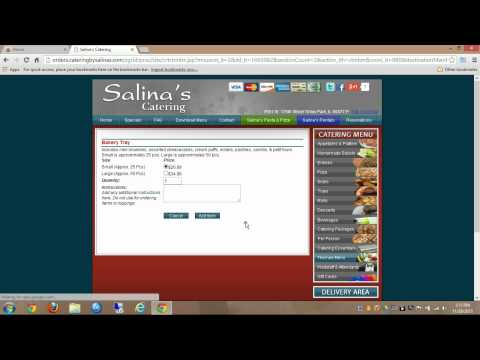 Placing An Online Catering Order And Applying A Coupon