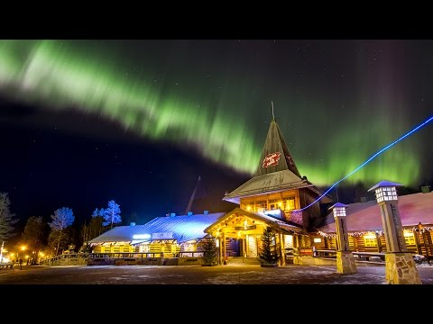 Northern lights in Santa Claus' hometown Rovaniemi in Lapland Finland - aurora borealis for kids