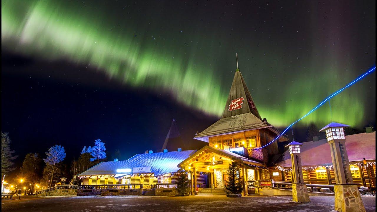 Northern Lights In Santa Claus' Hometown Rovaniemi