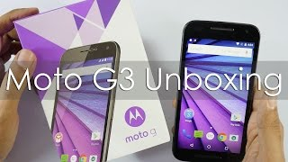 Moto G3 3rd Gen Unboxing & Hands On Overview
