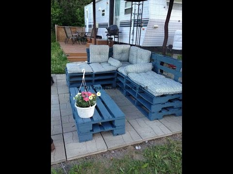 Come fare facilmente un divano chaise long con pallet interi   youtube