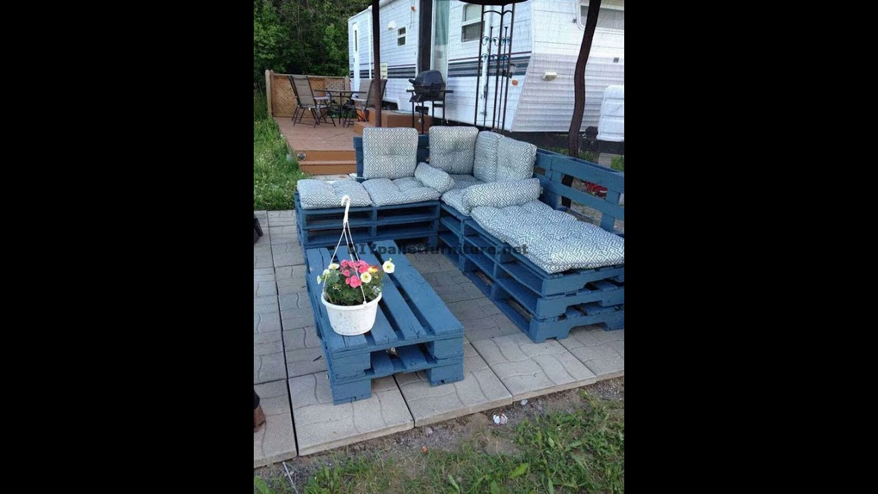 Favori Come fare facilmente un divano chaise-long con pallet interi - YouTube VF69