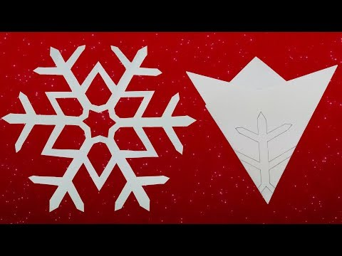 Paper Snowflake #01 - How To Make A Paper Snowflakes Step by Step Tutorial
