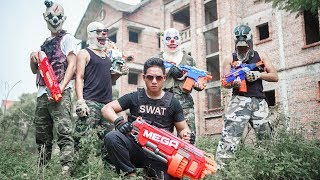 NERF WAR : SWAT Warriors Nerf Guns Battle Attack Dangerous Criminals Mask