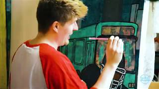 "Friendship Session #22 ""Two Buses"" Painting Time-lapse by Zachary Rutter Art"