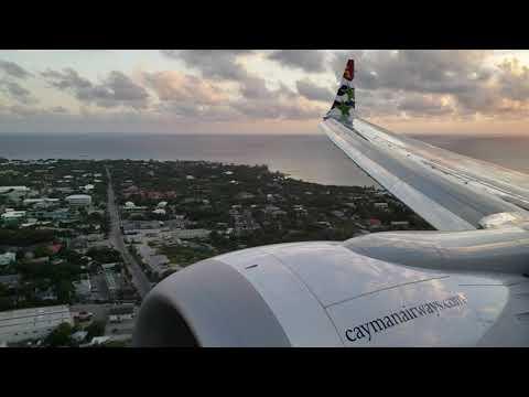 Landing in grand cayman cayman islands cayman airways737 max 8