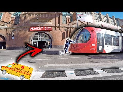 SCOOTER KID HIT BY TRAM! *not clickbait*