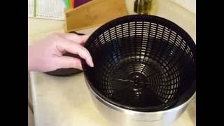 Chef Essential Stainless Steel Salad Spinner