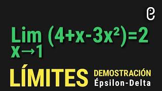 LÍMITES (Demostración Épsilon-Delta) EXPLICACIÓN INÉDITA