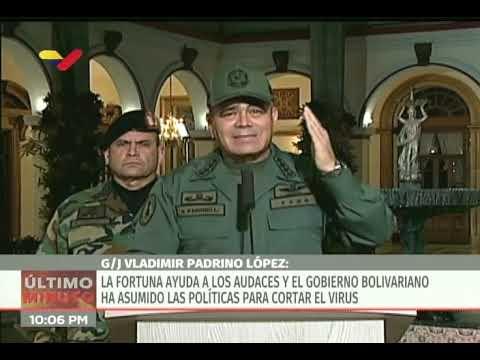 Padrino López sobre la cuarentena total a partir del martes: No se permitirá tránsito entre estados