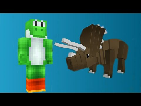 I GOT CHASED BY DINOSAURS WHEN CAMPING IN MINECRAFT!? Custom Mod Adventure #1