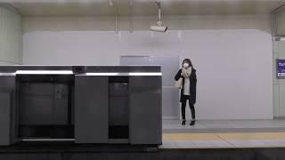 夜の北大阪急行の車窓動画(20180213)