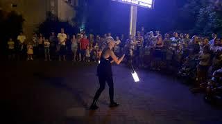 Огненное  шоу в Лазаревском
