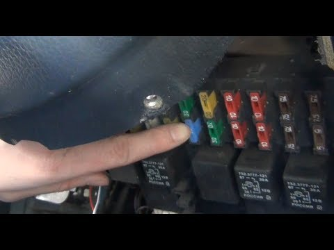 Замена предохранителя дверных замков Chevrolet - Niva