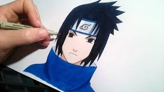 How to draw Sasuke | speed drawing