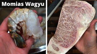 Camarones con Wagyu A5 | La Capital